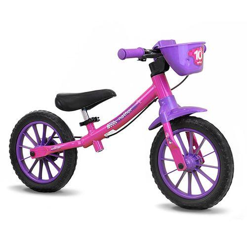 Bicicleta Balance Bike Sem Pedal Feminina - Nathor