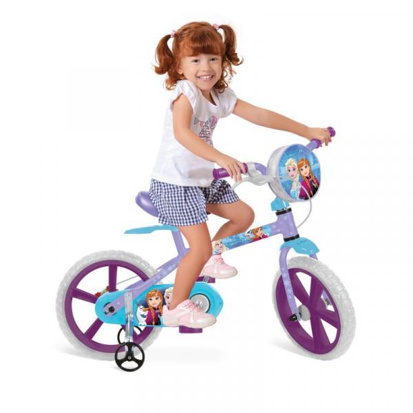 Bicicleta Bandeirante Infantil Feminina Frozen - Aro 14 - Bandeirante