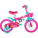 Bicicleta Barbie Caloi Aro 12 1 Marcha Rosa