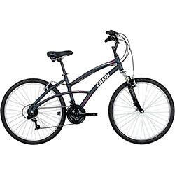 Bicicleta Caloi 400 Feminina Aro 26 21 Marchas - Cinza