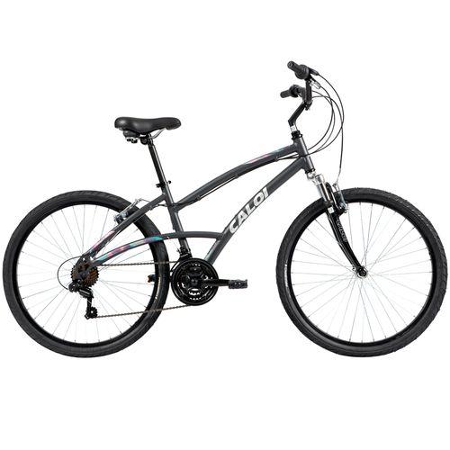 Bicicleta Caloi 500 Feminina - Aro 26, 21v-Cinza