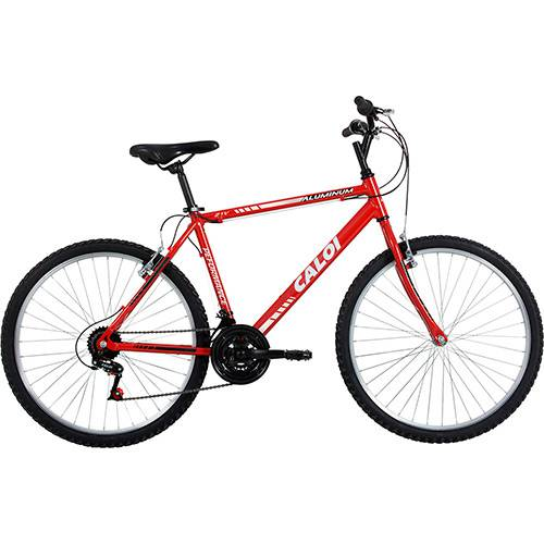 Tudo sobre 'Bicicleta Caloi Aluminum Aro 26 21 Velocidades Vermelha'