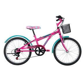 Bicicleta Caloi Aro 20 Barbie Fucsia - Preto e Rosa