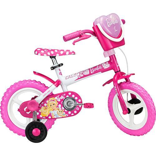 Bicicleta Caloi Barbie Aro 12 Rosa