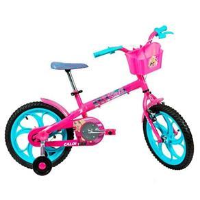 Bicicleta Caloi Barbie, Aro 16, Rosa - Rosa