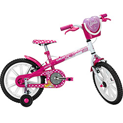 Bicicleta Caloi Barbie Aro 16 Rosa