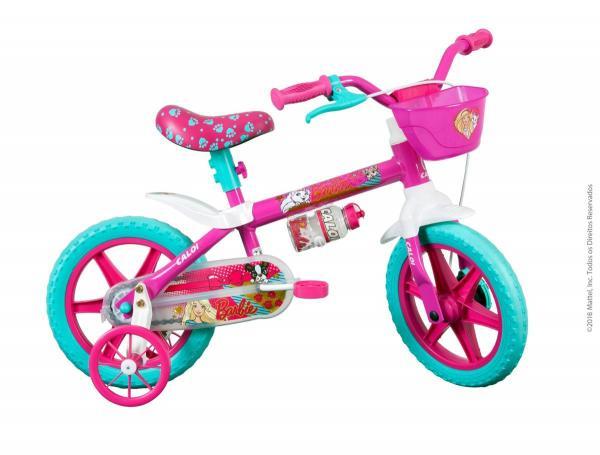 Bicicleta Caloi Infantil Barbie Aro 12 Rosa