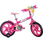 Bicicleta Caloi T10R16V1 Barbie Aro 16 Rosa Fuccia