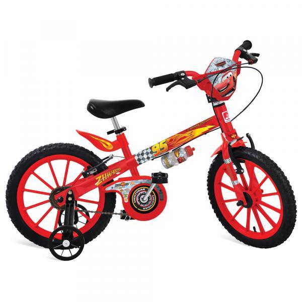 Bicicleta Cars Disney Aro 16 Vermelho Bandeirante