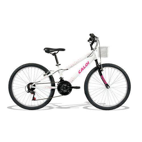 Tudo sobre 'Bicicleta Ceci Aro 24 Branca 21v A18 - Caloi'