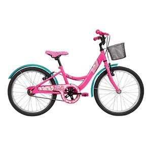 Bicicleta Infantil Aro 20 Caloi Barbie com Cesto - Rosa