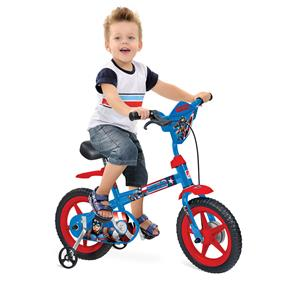 Bicicleta Infantil Aro 12 Bandeirante Capitão América