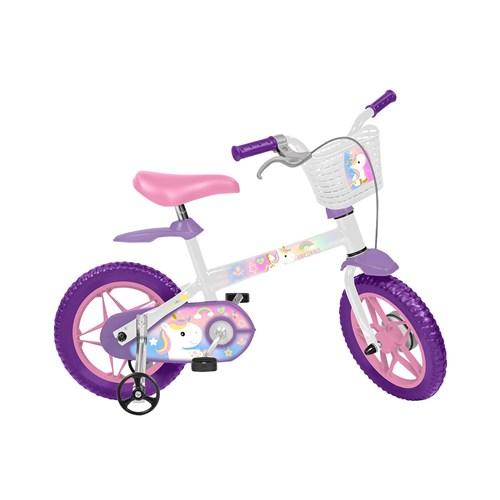 Bicicleta Infantil Aro 12 Bandeirante Unicórnio 3024 Branco