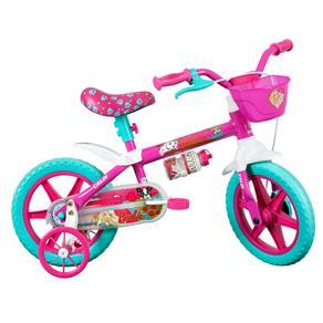 Bicicleta Infantil Aro 12 Caloi Barbie - Rosa