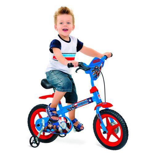 Bicicleta Infantil Aro 12 Capitão América 2247 - Bandeirante