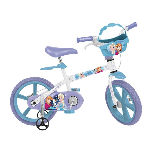 Bicicleta Infantil Aro 14 Bandeirante Frozen 2498 Branco