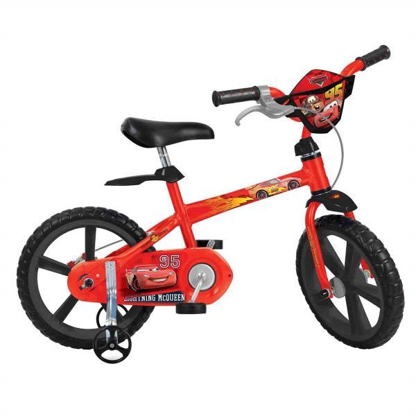 Bicicleta Infantil Aro 14 Cars Disney Bandeirante
