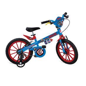 Bicicleta Infantil Aro 16 Bandeirante Capitão América