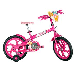 Bicicleta Infantil Aro 16 Caloi Barbie - Rosa