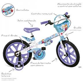 Bicicleta Infantil Aro 16 Frozen Disney Brinquedos Bandeirantes Lilás