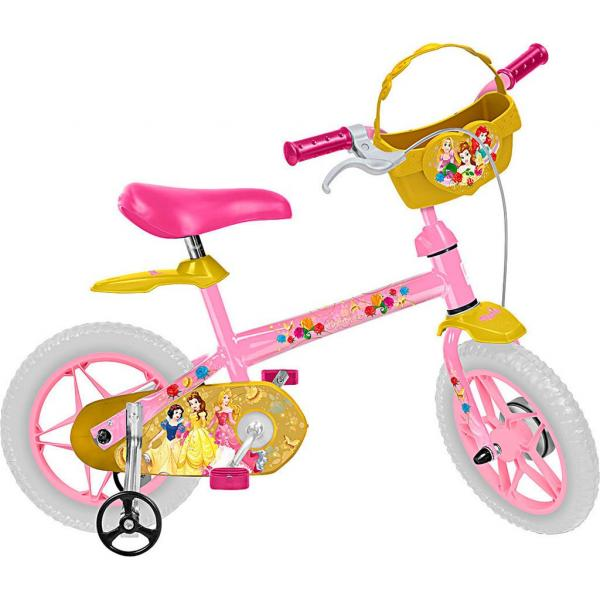 "Bicicleta Infantil Bandeirante Aro 12"" - Princesas Disney"