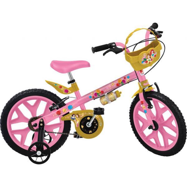 "Bicicleta Infantil Bandeirante Aro 16"" - Princesas Disney"