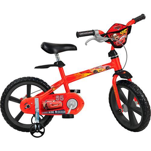 Bicicleta Infantil Bandeirante Disney Cars Aro 14 - Vermelha