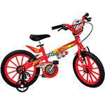 Bicicleta Infantil Bandeirante Disney Cars Aro 16 Vermelha