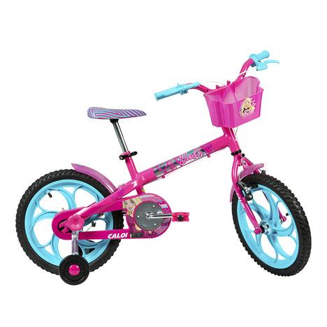 Bicicleta Infantil Caloi Aro 16 Barbie Rosa