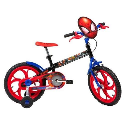 Tudo sobre 'Bicicleta Infantil Caloi Aro 16 Spider Man com Rodinhas'