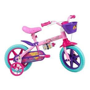 Bicicleta Infantil Caloi Barbie Aro 12 - Rosa - Rosa