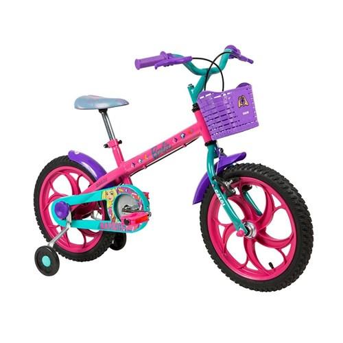Bicicleta Infantil Caloi Barbie Aro 16 - Rosa