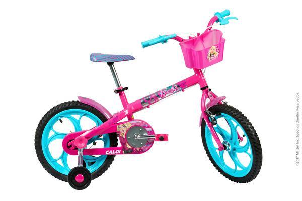 Bicicleta Infantil Caloi Barbie Aro 16 Rosa