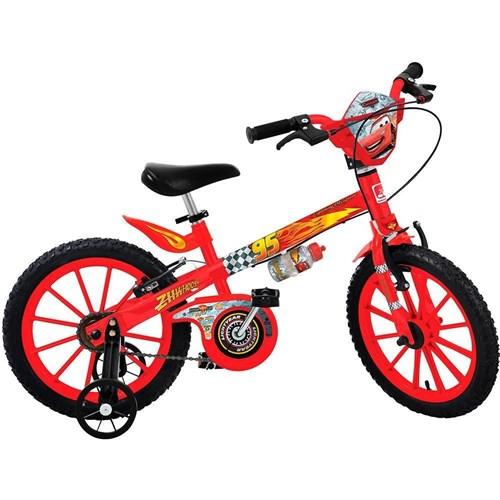 Bicicleta Infantil Disney Cars Aro 16 Vermelha - Bandeirante