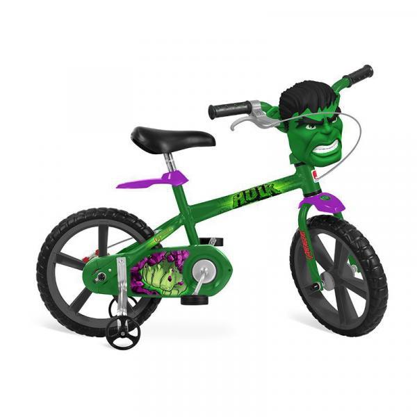 Bicicleta Infantil Hulk Aro 14 Verde - Bandeirante