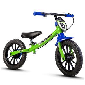 Bicicleta Infantil Masculina com Aro 12 Balance Nathor - Selecione=Verde/Azul