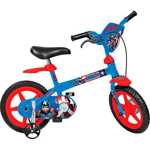 Bicicleta Infantil os Vingadores Capitão América Aro 12 - Brinquedos Bandeirante