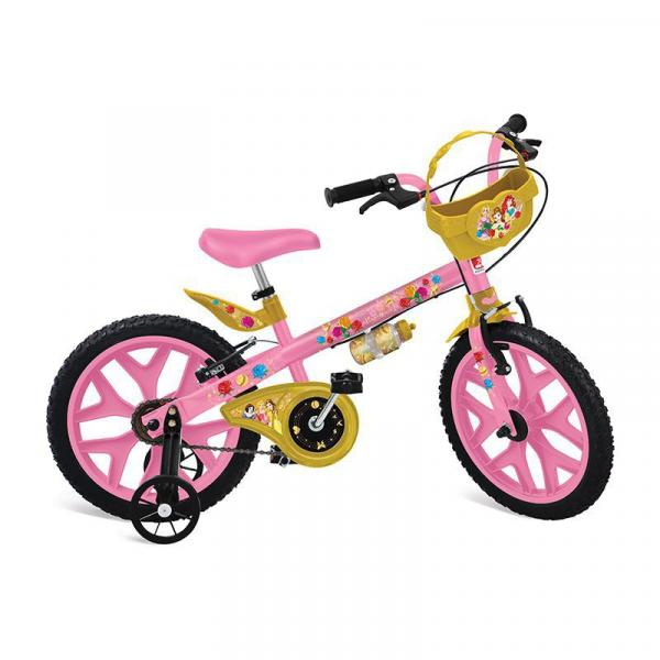 Bicicleta Infantil Princess Disney Aro 16 - Bandeirante