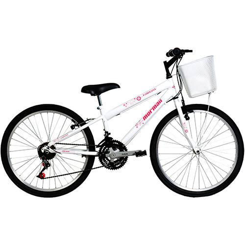 Tudo sobre 'Bicicleta Mormaii Aro 24 Fantasy 21 Marchas Branca'
