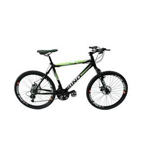 Bicicleta RINO Atacama, Câmbios Shimano Aro 26 Freio a Disco 21v - Quadro 17 - Preta - PRETO