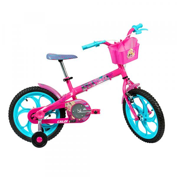 Bicicleta Rosa Barbie Aro 16 - Caloi