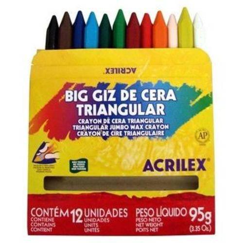 Tudo sobre 'Big Giz de Cera Triangular Acrilex'