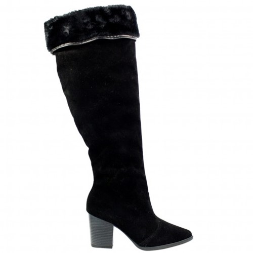 Tudo sobre 'Bizz Store - Bota Over The Knee Feminina Vizzano Camurção Preta'