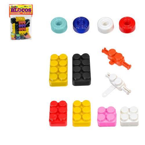 Blocos de Montar 28 Peças Mini Toys