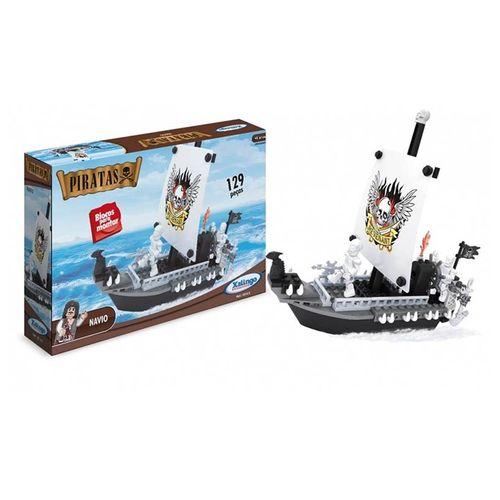 Tudo sobre 'Blocos Montar Navio Piratas 129 Peças - Xalingo 0510.9'