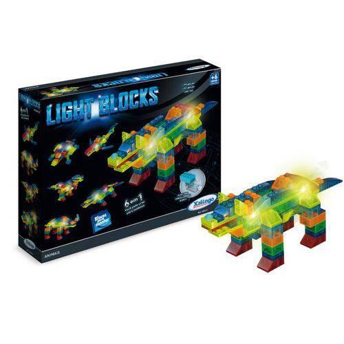 Tudo sobre 'Blocos para Montar Light Blocks Animais Xalingo'