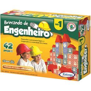 Blocos Xalingo Brincando de Engenheiro N°1, 42 Peças