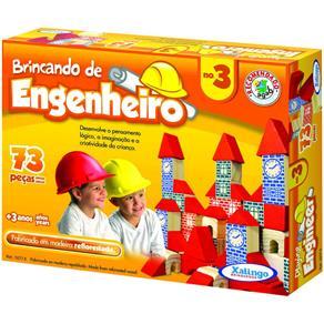 Blocos Xalingo Brincando de Engenheiro N°3, 73 Peças
