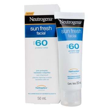 Protetor Solar Sun Fresh Facial Fps 60 Neutrogena 50ml