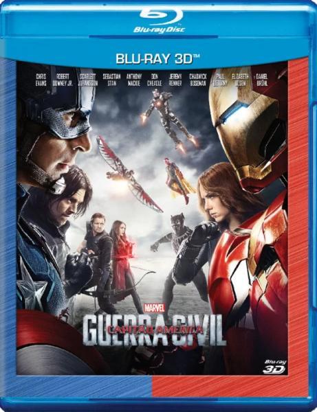 Blu-Ray Capitão América: Guerra Civil 3d - 1